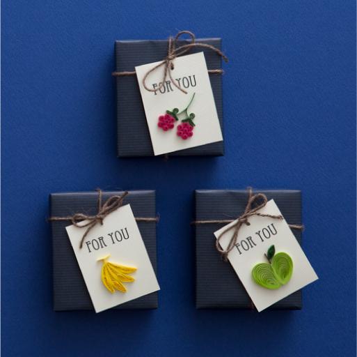 6種のフルーツのギフトタグ『ペーパークイリング スタイルブック』