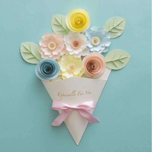 花束のメッセージカード『ペーパークイリング スタイルブック』